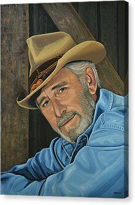 Don Williams Painting Canvas Print by Paul Meijering