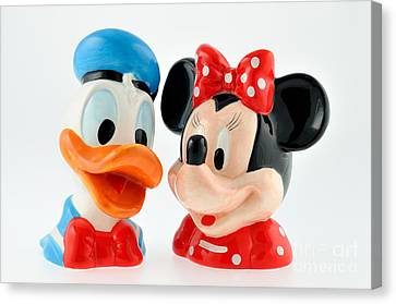Donald Duck And Daisy Duck Canvas Print by George Atsametakis