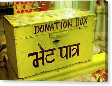Donation Box, Shree Laxmi Narihan Ji Canvas Print by Inger Hogstrom