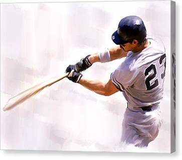 Donnie Ballgame Don Mattingly  Canvas Print by Iconic Images Art Gallery David Pucciarelli