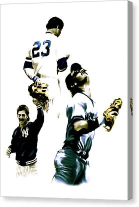 Donnie Baseball  Don Mattingly Canvas Print by Iconic Images Art Gallery David Pucciarelli