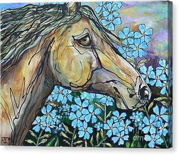 Don't Forget Me Canvas Print by Jonelle T McCoy