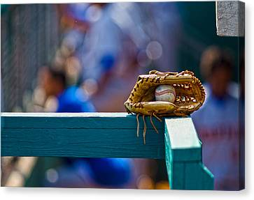 Don't Forget Your Glove Canvas Print by Michael Misciagno