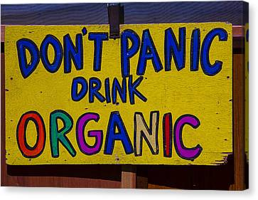 Don't Panic Sign Canvas Print by Garry Gay