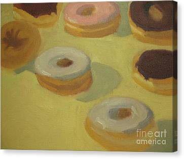Donuts Canvas Print by Sharon Hollander