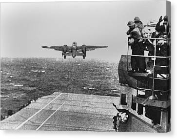 Doolittle Raid, April 18, 1942. An Army Canvas Print by Everett