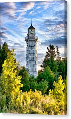 Door County Cana Island Beacon Canvas Print by Christopher Arndt