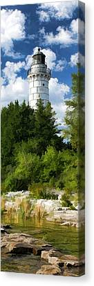 Door County Cana Island Vertical Panorama Canvas Print by Christopher Arndt