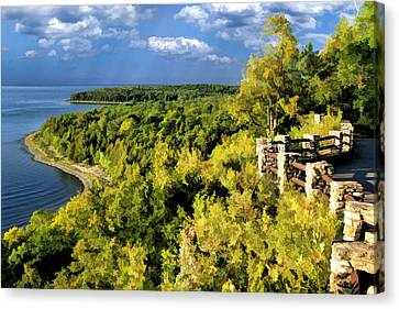 Door County Peninsula State Park Svens Bluff Overlook Canvas Print by Christopher Arndt