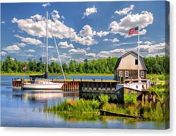 Door County Washington Island Jackson Harbor Canvas Print by Christopher Arndt