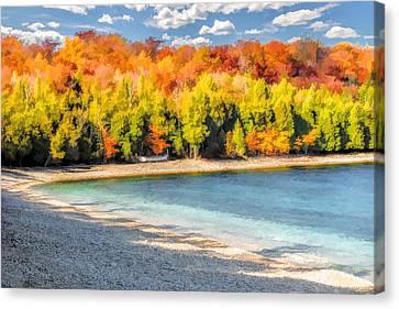 Door County Washington Island School House Beach Canvas Print by Christopher Arndt