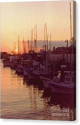 Door County Wisconsin Egg Harbor Sunset 1981 Canvas Print by ImagesAsArt Photos And Graphics