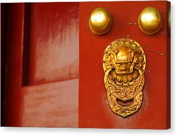 Door Handle Canvas Print by Sebastian Musial