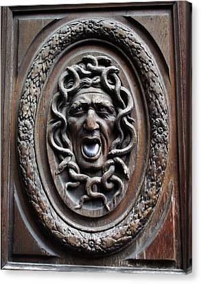 Door In Paris Medusa Canvas Print by A Morddel