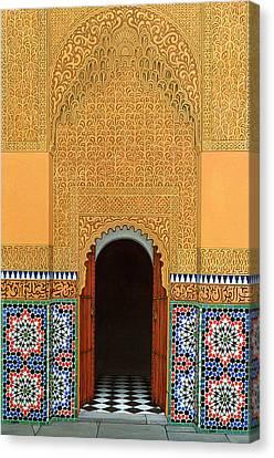 Door, Marrakech, 1998 Acrylic On Linen Canvas Print by Larry Smart
