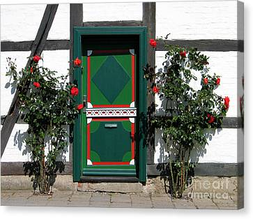 Door With Roses Canvas Print by Art Photography