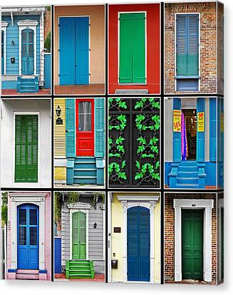 Doors New Orleans Canvas Print by Christine Till