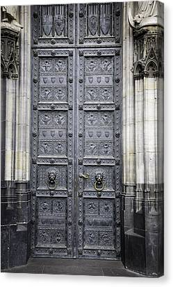 Doors Of Cologne 04 Canvas Print by Teresa Mucha