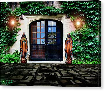 Doors Of Ivy Canvas Print by Michael Rucker