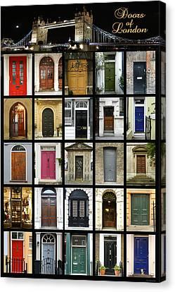 Doors Of London II Canvas Print by Heidi Hermes