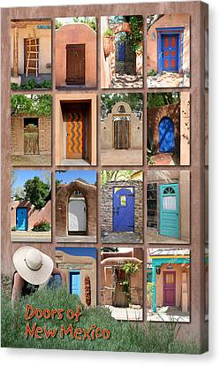 Doors Of New Mexico II Canvas Print by Heidi Hermes