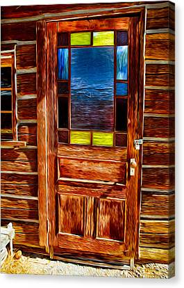 Doorway To The Past Canvas Print by Omaste Witkowski