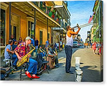 Doreen's Jazz New Orleans - Paint Canvas Print by Steve Harrington