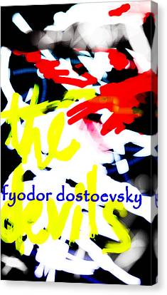 Dostoevsky's The Devils Poster  Canvas Print by Paul Sutcliffe