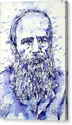 Dostoyevsky Portrait Canvas Print by Fabrizio Cassetta