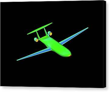 Double Bubble D8 Aircraft Simulation Canvas Print by Nasa/ames (shishir Pandya)