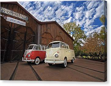 Double Cab And 23 Window Canvas Print by Peter Tellone
