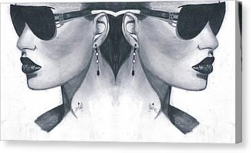 Double Face Canvas Print by Bobby Dar