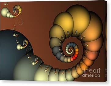 Double Loop Canvas Print by Karin Kuhlmann