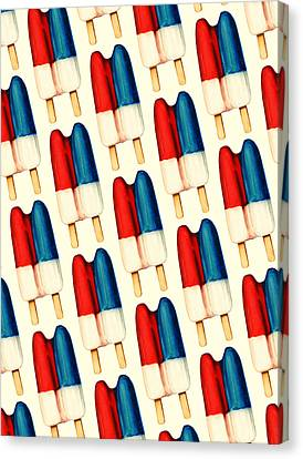 Double Popsicle Pattern Canvas Print by Kelly Gilleran