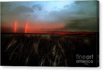 Double Rainbow Harney Oregon Canvas Print by Michele AnneLouise Cohen