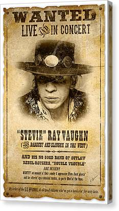 S. R. V. Wanted Poster 2 Canvas Print by Gary Bodnar