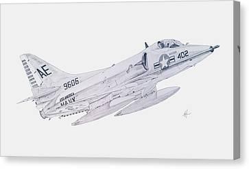 Douglas A-4c Skyhawk Canvas Print by Nicholas Linehan
