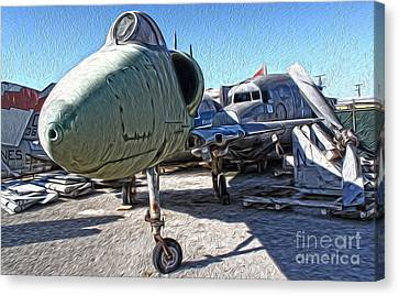 Douglas Skyhawk A-4b Canvas Print by Gregory Dyer