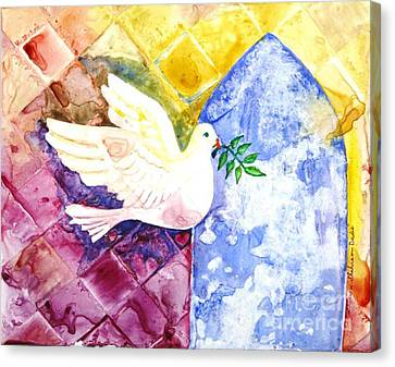 Dove Of Peace Canvas Print by Shirin Shahram Badie
