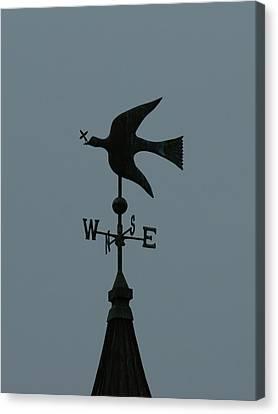 Dove Weathervane Canvas Print by Ernie Echols