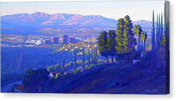 Down In The Valley Canvas Print by Elena Roche