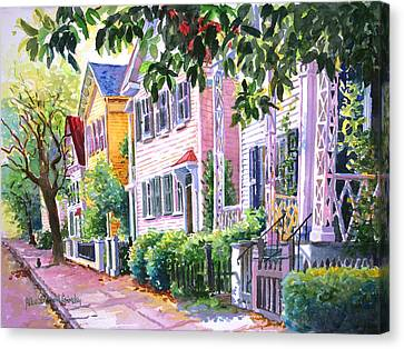 Down On Franklin Street Canvas Print by Alice Grimsley
