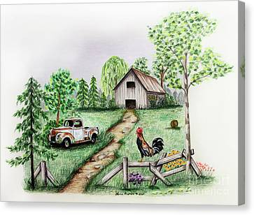 Down On The Farm Canvas Print by Lena Auxier