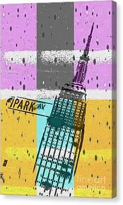 Down Park Av Canvas Print by Az Jackson