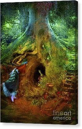 Down The Rabbit Hole Canvas Print by Aimee Stewart