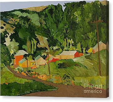 Down The Road Canvas Print by Allan P Friedlander