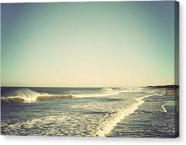 Down The Shore - Seaside Heights Jersey Shore Vintage Canvas Print by Terry DeLuco