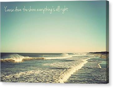 Down The Shore Seaside Heights Vintage Quote Canvas Print by Terry DeLuco