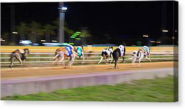 Down The Track Canvas Print by Keith Armstrong