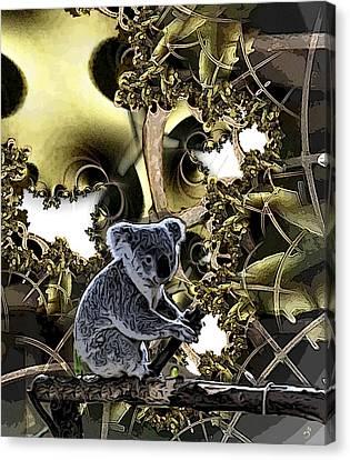 Down Under Canvas Print by Ron Bissett
